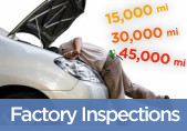 Factory Mileage and Warranty Inspections