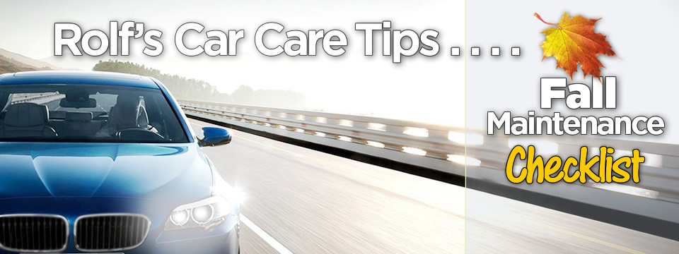 Rolf's Car Care Tips